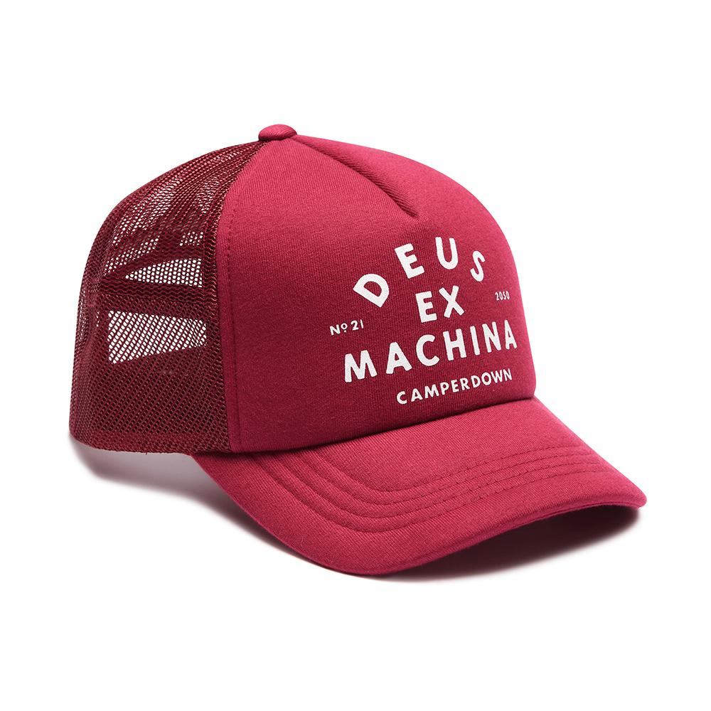 Deus Ex Machina Austin Camperdown Trucker Sangria Red